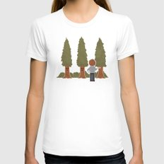 Happy Trees Womens Fitted Tee White MEDIUM