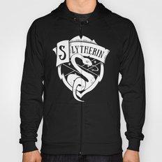 White Slytherin Crest Hoody