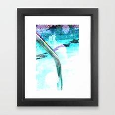 swim pool Framed Art Print