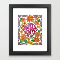 Wild Woman Framed Art Print