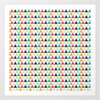 triangle Art Prints featuring triangle by Sébastien BOUVIER