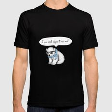 Hipster polarbear SMALL Black Mens Fitted Tee