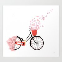 Love Cycle Art Print