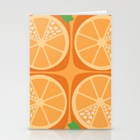 Orange Heart Stationery Cards