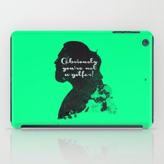 Not a golfer! – The Big Lebowski Silhouette Quote iPad Case