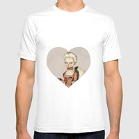 Marie Antoinette Mens Fitted Tee White SMALL