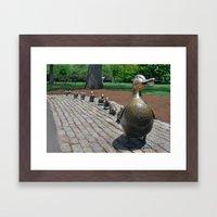 Make Way for Ducklings Framed Art Print