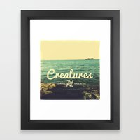 Creatures dare 2 believe - Swedish summer Framed Art Print