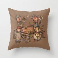 The Small Big Band Throw Pillow