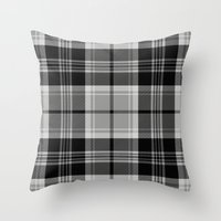 Black & White Tartan (va… Throw Pillow