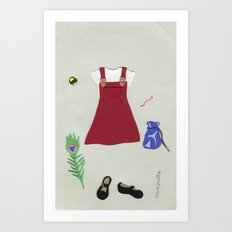 King's Quest Outfit Art Print