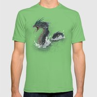 water dragon  Mens Fitted Tee Grass SMALL