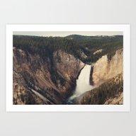 Yellowstone Canyon Water… Art Print