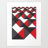 Geometric Dance (2012) Art Print