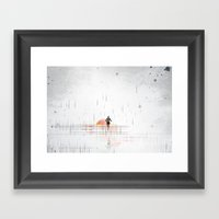 Just Run Framed Art Print