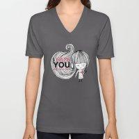 I Hate You (but i love you) #hatelove Unisex V-Neck