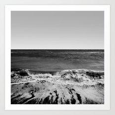 BEACH DAYS XVI BW Art Print