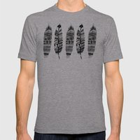 Feather Time  Mens Fitted Tee Athletic Grey SMALL