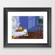 domestic scene Framed Art Print