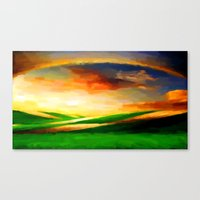 Colorful Sky - Painting … Canvas Print