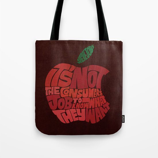 Steve Jobs on Consumers Tote Bag