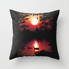 Swan Shine Throw Pillow