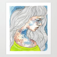 Hideout, watercolor illustration Art Print
