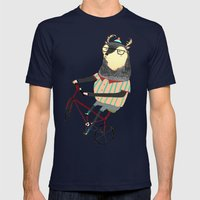 Bike Mens Fitted Tee Navy SMALL