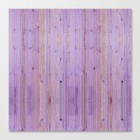 Purple Wood Pattern Canvas Print