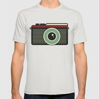 Retro Camera Mens Fitted Tee Silver SMALL