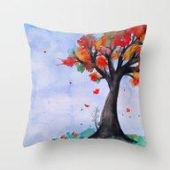 Throw Pillow featuring Autumn Begins by DuckyB (Brandi)