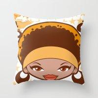 Bee-J Color2 Throw Pillow
