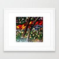 River of Wooded Flowers Framed Art Print
