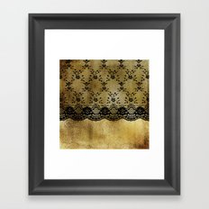 Black Lace On Gold I Framed Art Print