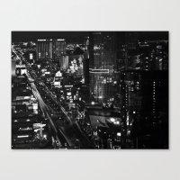 Dark Depths Of Las Vegas Canvas Print