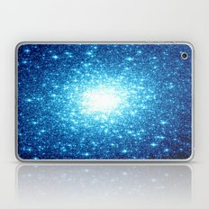 Turquoise Blue Galaxy Stars Laptop & iPad Skin