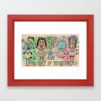 Let's Get It Together Framed Art Print