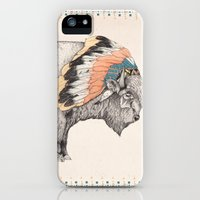 iPhone 5s & iPhone 5 Cases featuring White Bison by Sandra Dieckmann
