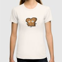Cinnamon Raisin Toast Womens Fitted Tee Natural SMALL