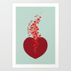 love overflow Art Print