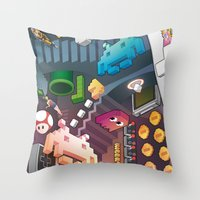 Lost in videogames Throw Pillow
