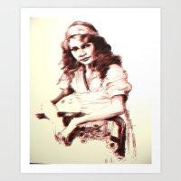 Drawing of Girl  Art Print