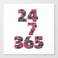 24-7/365 (Lipstick) Canvas Print