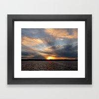 Shafts of Violence - Sunset Study # 28 Framed Art Print
