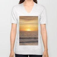 California Sunset Over O… Unisex V-Neck