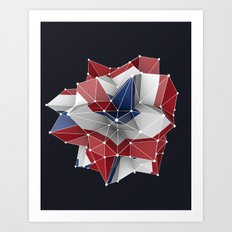 Abstract circular dutch flag in c4d Art Print