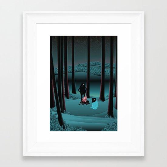 Long Talks Short Nights Framed Art Print
