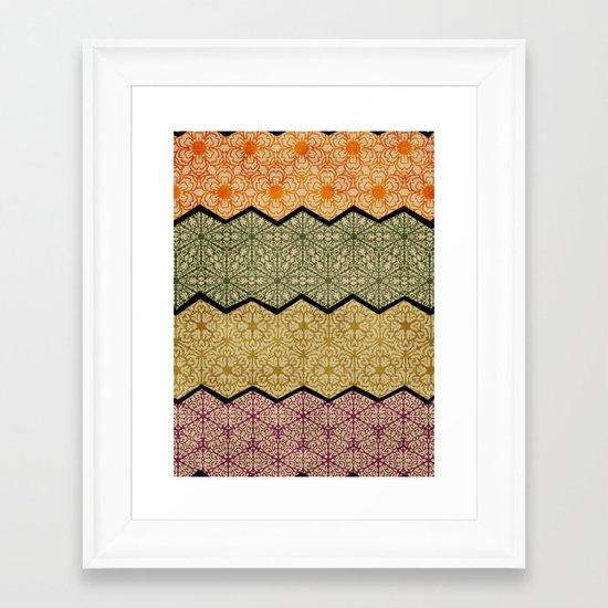Pattern, Zig, Pattern, Zag, Repeat Framed Art Print
