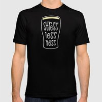 a pint of stout: stresslessness Mens Fitted Tee Black SMALL