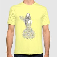 Flower Girl - pattern Mens Fitted Tee Lemon SMALL